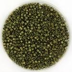 miyuki delica's 11/0 - metallic olive