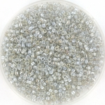 miyuki delica's 11/0 - transparant silver gray gold luster