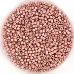 miyuki delica's 11/0 - galvanized semi frosted pink blush