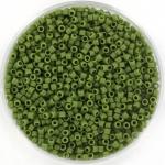 miyuki delica's 11/0 - opaque matte avocado