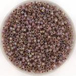 miyuki delica's 11/0 - cocoa lined ab opal