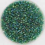 miyuki delica's 11/0 - transparant ab emerald