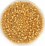 miyuki delica's 11/0 - duracoat galvanized matte yellow gold