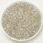 miyuki delica's 11/0 - gilt lined white opal