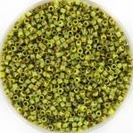 miyuki delica's 11/0 - opaque picasso chartreuse