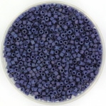 miyuki delica's 11/0 - opaque glazed frosted rainbow navy blue