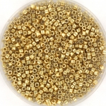 miyuki delica's 11/0 - duracoat galvanized pale gold