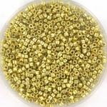 miyuki delica's 11/0 - duracoat galvanized pale soft gold