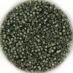 miyuki delica's 11/0 - duracoat galvanized steel green