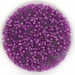 miyuki delica's 11/0 - fuchsia lined luster crystal
