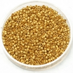 miyuki delica's 11/0 - plated matte gold 24kt