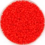 miyuki delica's 11/0 - opaque matte vermillion red