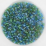 miyuki delica's 11/0 - sparkling lined caribbean mix blue green
