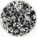 miyuki rocailles 11/0 - black and white