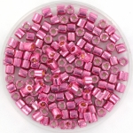 miyuki delica's 8/0 - duracoat galvanized hot pink