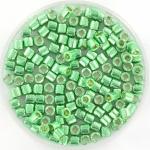 miyuki delica's 8/0 - duracoat galvanized dark mint green