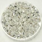 miyuki drop 3.4 mm - silverlined crystal