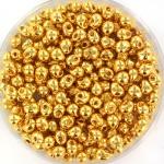 miyuki drop 3.4 mm - 24kt gold plated