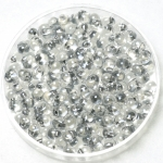 miyuki drop 3.4 mm - sparkled pewter lined crystal