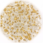 miyuki drop 3.4 mm - sparkling metal gold lined crystal