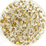 miyuki drop 3.4 mm - sparkling metallic gold lined crystal