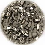 miyuki half tila 5x2.3 mm - nickel plated