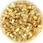 miyuki half tila 5x2.3 mm - 24kt gold plated