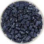 miyuki half tila 5x2.3 mm - opaque matte gunmetal