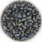 miyuki half tila 5x2.3 mm - metallic matte silver gray