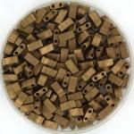 miyuki half tila 5x2.3 mm - metallic matte dark bronze