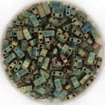 miyuki half tila 5x2.3 mm - metallic matte iris patina