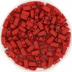 miyuki half tila 5x2.3 mm - metallic matte brick red