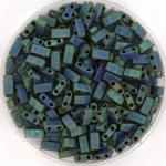 miyuki half tila 5x2.3 mm - metallic matte iris blue green
