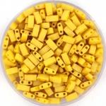 miyuki half tila 5x2.3 mm - opaque matte canary
