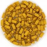 miyuki half tila 5x2.3 mm - opaque matte mustard