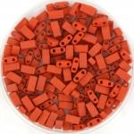 miyuki half tila 5x2.3 mm - opaque matte terra cotta