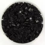 miyuki half tila 5x2.3 mm - opaque black