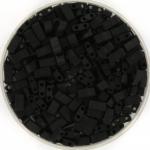 miyuki half tila 5x2.3 mm - opaque matte black