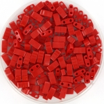 miyuki half tila 5x2.3 mm - opaque red