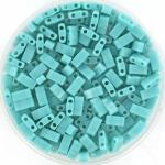 miyuki half tila 5x2.3 mm - opaque turquoise green