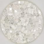 miyuki half tila 5x2.3 mm - ceylon white pearl