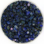 miyuki half tila 5x2.3 mm - opaque picasso cobalt