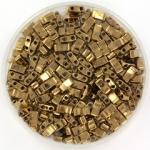 miyuki half tila 5x2.3 mm - metallic dark bronze