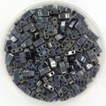 miyuki half tila 5x2.3 mm - metallic light gunmetal