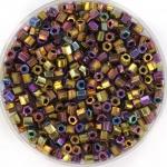 miyuki hex cut rocailles 8/0 - metallic purple gold iris