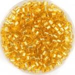 miyuki hex cut rocailles 8/0 - silverlined gold