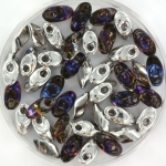 miyuki long magatama 4x7 mm - Czech coating crystal heliotrope