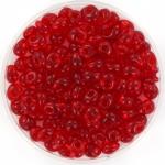 miyuki magatama 4 mm - transparant ruby