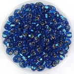 miyuki magatama 4 mm - silverlined capri blue