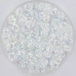 miyuki magatama 4 mm - transparant ab crystal